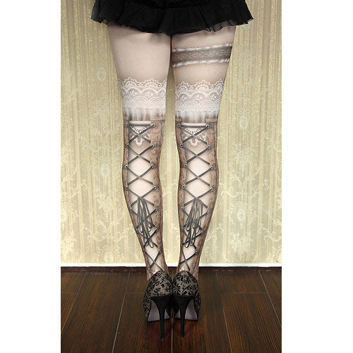 "abilletage ""corset tights busk -brown-"""