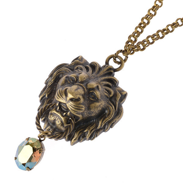 "EXCENTRIQUE""'15SP Crystal Lion Pendant"""