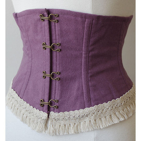 EXCENTRIQUE 15SP Linen Fringe Corset(PURPLE)