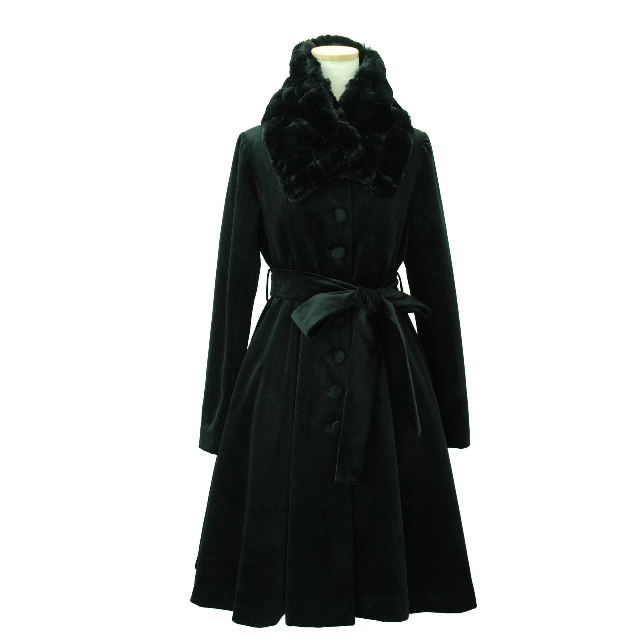 "Sheglit ""Agnes"" Classical Coat black"