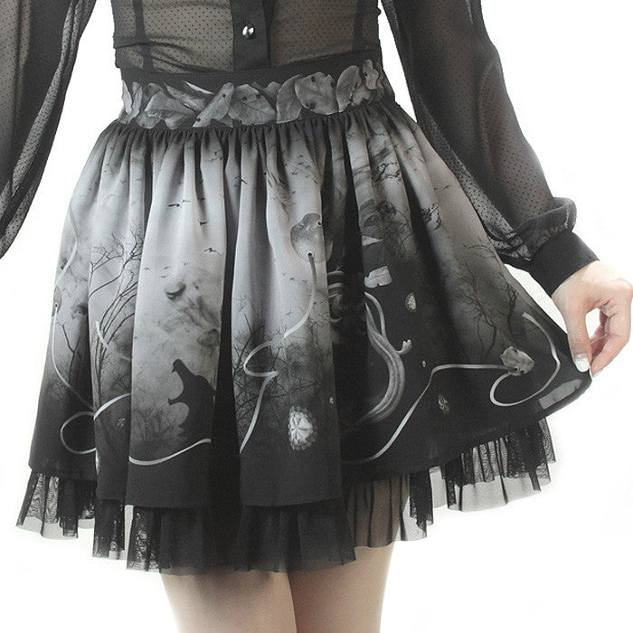 "abilletage ""Villains Chiffon Skirt""(mini)"