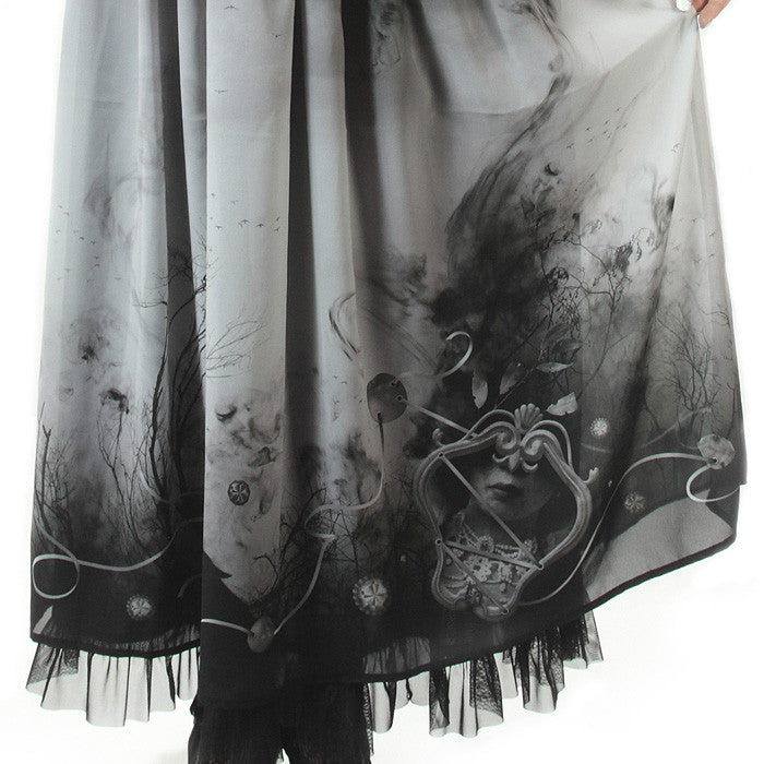 "abilletage ""Villains Chiffon Skirt""(long)"