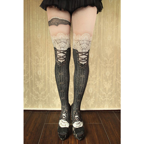 "abilletage ""corset tights victorian -black-"""
