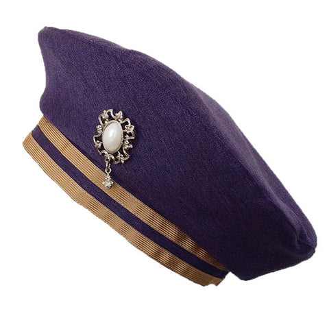 "EXCENTRIQUE""'15SP Scholar Beret -PURPLE-"""
