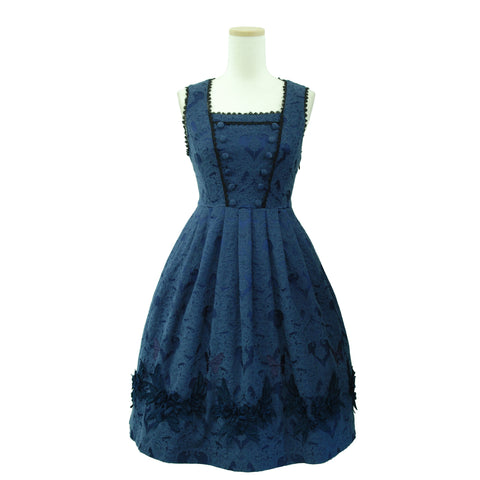 "Sheglit ""Rapunzel Jacquard Dress(navy)"""