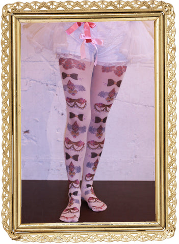 "marywest☆ ""Gradation Rose Ribbon Tights"""