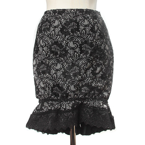 "abilletage ""Double lace mermaid skirt black"""