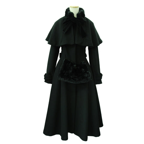 "Sheglit ""quartet"" Cape Coat black"