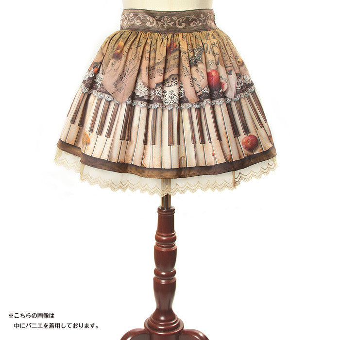 "abilletage ""Antique piano skirt mini"""