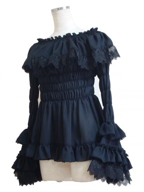 "ATELIER PIERROT ""Juliet Blouse(black)"""