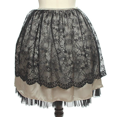 "abilletage ""Flower Lace Gathering Skirt"" Smoky Gold"