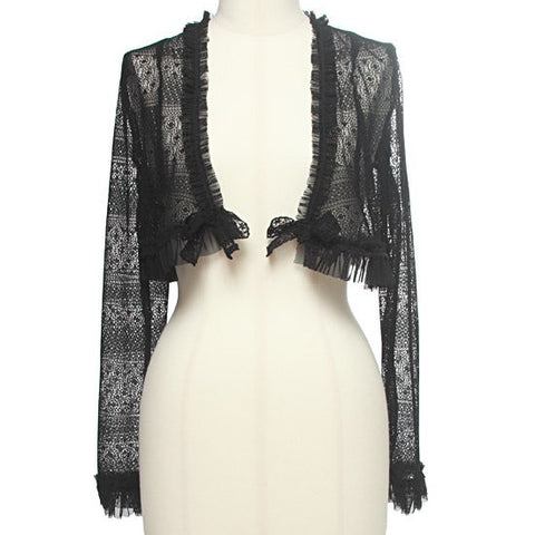 "abilletage ""Flower Lace Bolero"" Black"