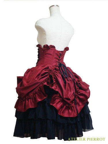 ATELIER PIERROT Bustle Corset Skirt wine