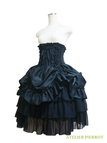 ATELIER PIERROT Bustle Corset Skirt black