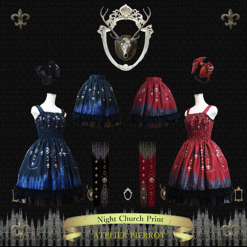 "ATELIER PIERROT""Night Church""headband wine"