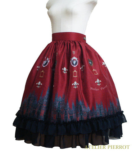 "ATELIER PIERROT""Night Church""Skirt wine"