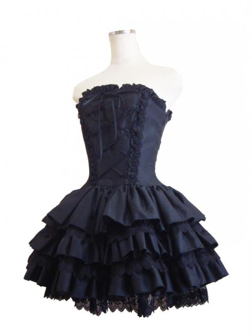 ATELIER PIERROT Mini Corset Dress Black