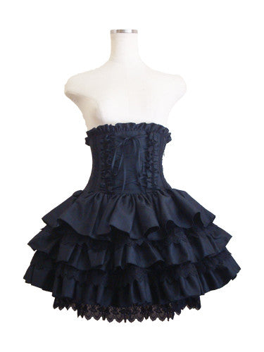 ATELIER PIERROT Mini Corset Skirt Black