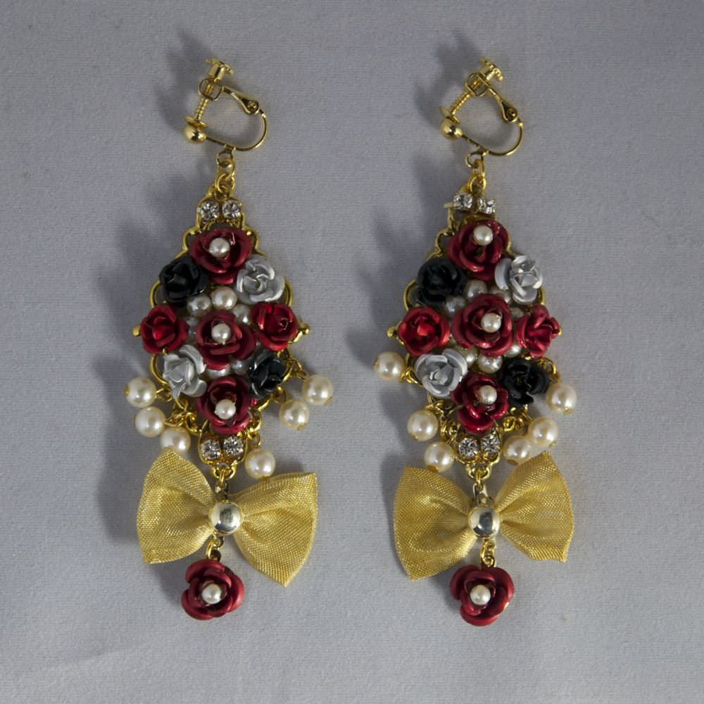 "marywest""Earrings(Chess rose)"""