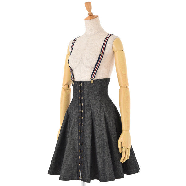 "EXCENTRIQUE ""'15SP Denim Corset Skirt"""