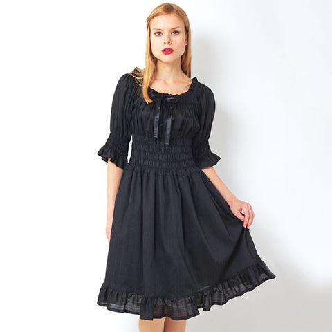 "EXCENTRIQUE ""'15SU Flora Dress"" BLK"