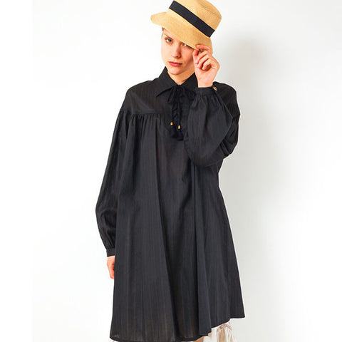 "EXCENTRIQUE ""'15SU Poet Shirt Dress"" BLK"