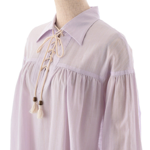 "EXCENTRIQUE ""'15SU Poet Shirt Dress"" LAVENDER"