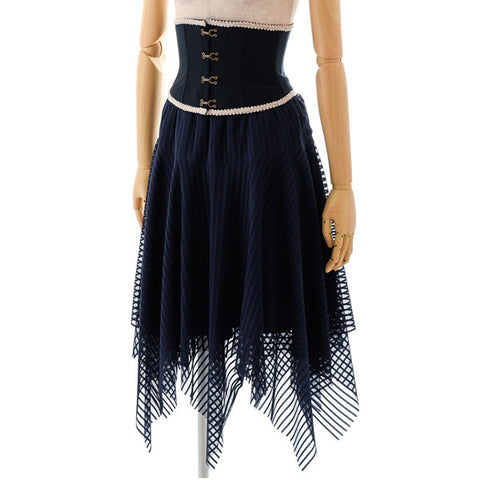 "EXCENTRIQUE ""'15SU Pirate Corset Skirt"" NAVY"