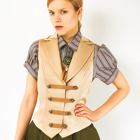 "EXCENTRIQUE ""'15SU Officer Vest""  GOLD"