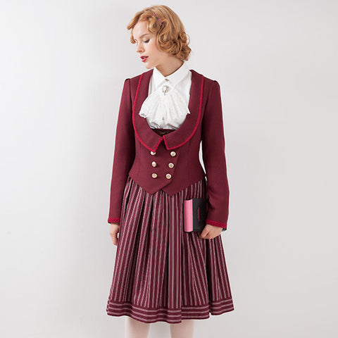 EXCENTRIQUE '15A Kersey Spencer Jacket BORDEAUX