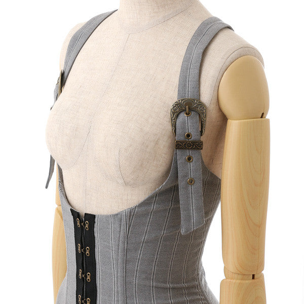 EXCENTRIQUE '15W Regimental Corset JSK GRAY 1 2