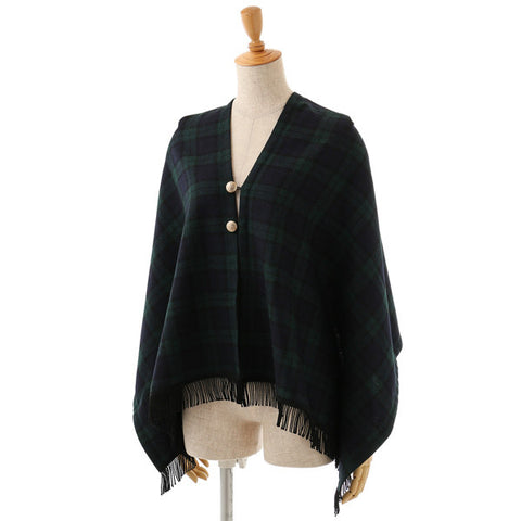 EXCENTRIQUE '15A Highland 2way Stole NAVY