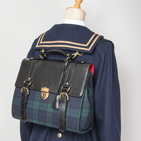 EXCENTRIQUE '15A Academia Satchel Bag NAVY
