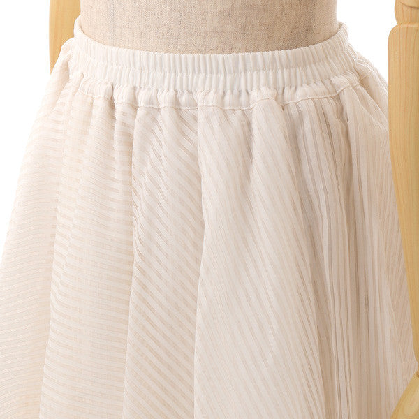 EXCENTRIQUE '15W Dessert Box Skirt WHT