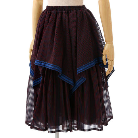 EXCENTRIQUE '15W Dessert Box Skirt NAVY