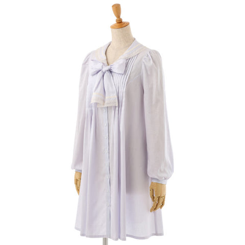 EXCENTRIQUE '16SP Lace Sailor Dress LAVENDER
