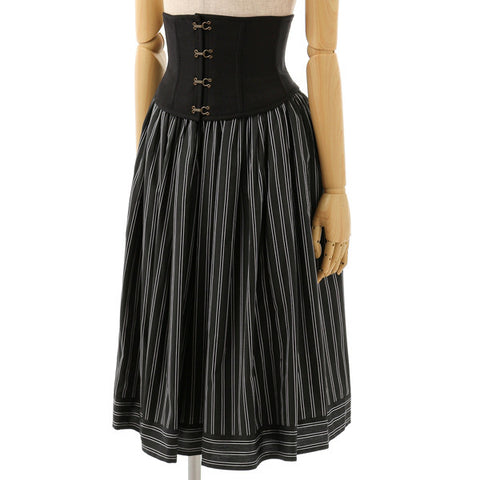 EXCENTRIQUE 15A Regimental Corset Skirt BLK