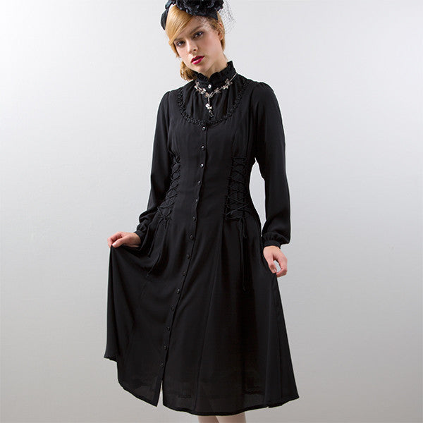 EXCENTRIQUE '15SP Georgette Lace Up Dress