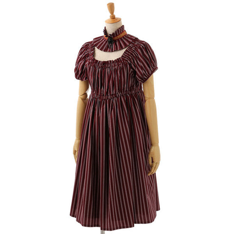 EXCENTRIQUE 15A Choker & Regimental Robe BORDEAUX