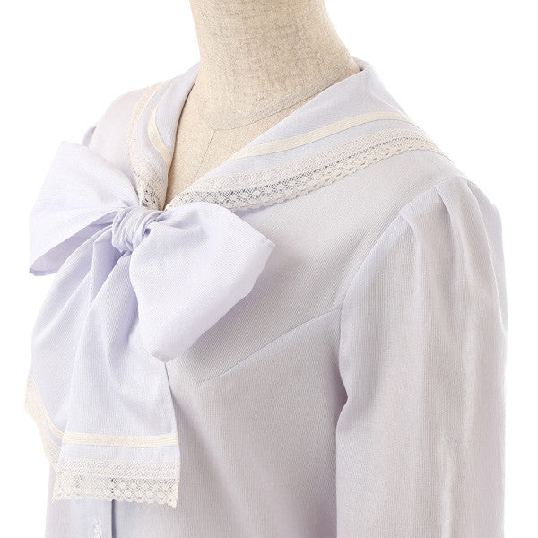 EXCENTRIQUE '16SP Lace Sailor Blouse LAVENDER