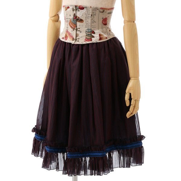 EXCENTRIQUE '15W Dessert Box Corset Skirt NAVY