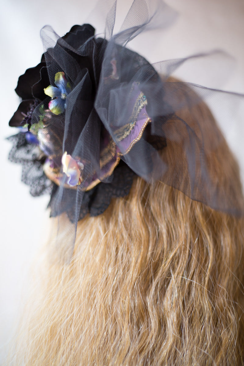 Morun × Muuna Stoik headdress black×blue