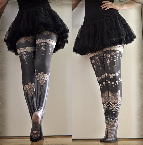 "Lilly ""Jewelry Cat Tights"""