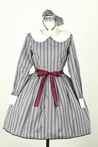 "Pina sweetcollection ""Flat Collar Dress Set"" regimental gray"