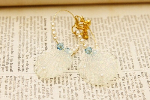 RoseMarie seoir shell earring (blue)