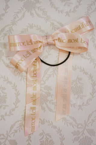 RoseMarie seoir Princess Ribbon hair elastic(pink)