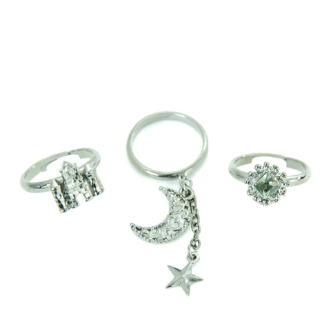 "Sheglit ""Nocturne"" Ring Set black"