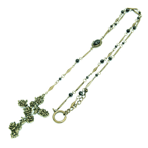 "Sheglit ""Rose Garden"" Rosary antique gold"