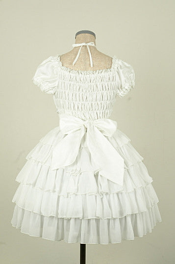 "Pina sweetcollection ""Chiffon georgette dress"" White"