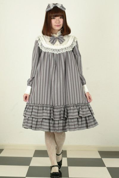 "Pina sweetcollection ""Regimental A line Dress"" gray"